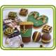 Аксессуары в стиле Луи Витон (комплект 4 шт). Авторская 2D силиконовая форма для мыла, свечей, шоколада, гипса и пр.
