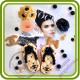 Духи, Флакон в стиле Шанель с анемонами (комплект форм). Авторская 2D силиконовая форма для мыла, свечей, шоколада, гипса и пр.