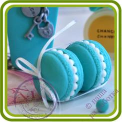 Макарон с ЖЕМЧУЖИНАМИ. Авторская 3D силиконовая форма для мыла, свечей, шоколада, гипса и пр.