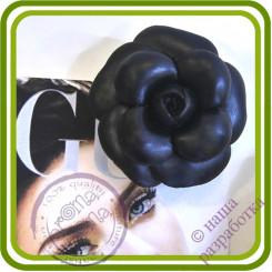 Камелия в стиле Шанель. Авторская 3D силиконовая форма для мыла, свечей, шоколада, гипса и пр.