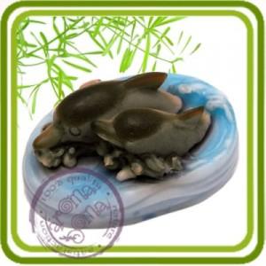 Дельфинчики - 3D силиконовая форма для мыла, свечей, шоколада, гипса и пр.