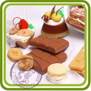 Ириска - 2D Эксклюзивная силиконовая форма для мыла, свечей, шоколада, гипса и пр.