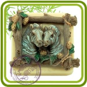Зебры - 2D Эксклюзивная силиконовая форма для мыла, свечей, шоколада, гипса и пр.