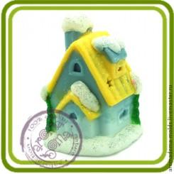 Рождественский домик 2- Объемная силиконовая форма для мыла