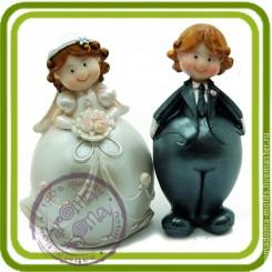 Жених и невеста (2формы) - Объемная силиконовая форма для мыла