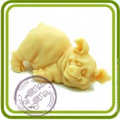 Хрюшка-милашка 3 - Объемная силиконовая форма для мыла