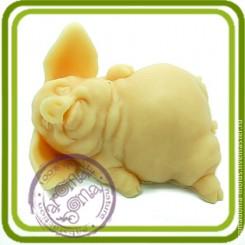 Хрюшка-милашка 4 - Объемная силиконовая форма для мыла