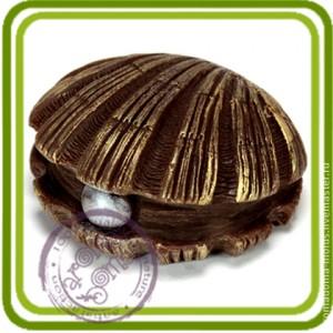 Ракушка с жемчужиной 2 - 3D силиконовая форма для мыла, свечей, шоколада, гипса и пр.
