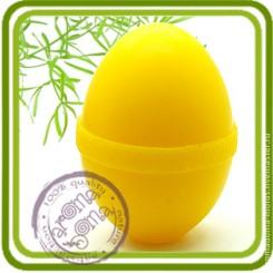 Яйцо с рельефной полоской - Объемная силиконовая форма для мыла