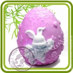 Яйцо (пасхальный кролик) - Объемная силиконовая форма для мыла №261
