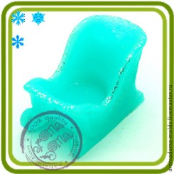 Сани - Объемная силиконовая форма для мыла