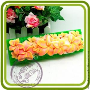 Плюмерии под нарезку - силиконовая форма для мыла, свечей, шоколада, гипса и пр.