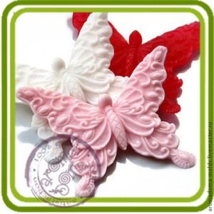 Бабочка ажурная 1 - 2D силиконовая форма для мыла, свечей, шоколада и пр.