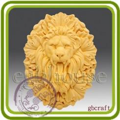 Рычащий Лев - Объемная силиконовая форма для мыла