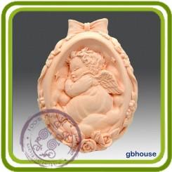 Яйцо (спящий ангел) - Объемная силиконовая форма для мыла №260