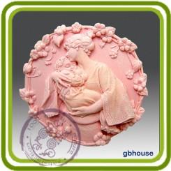 Мамина любовь 4 (овал) - Объемная силиконовая форма для мыла