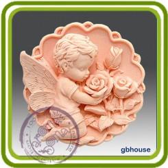 Ангел в розах - Объемная силиконовая форма для мыла №20