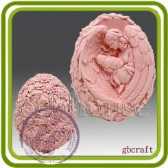 Дева ангел с младенцем (яйцо подсолнухи)- Объемная силиконовая форма для мыла