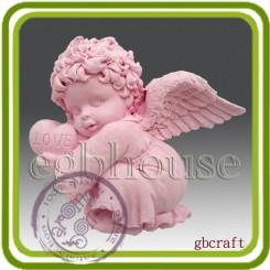 Ангел (мальчик) 2D   - Объемная силиконовая форма для мыла