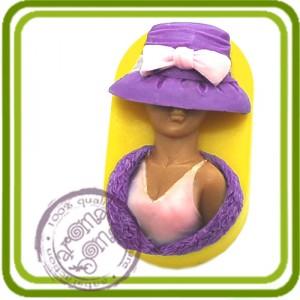 Дама с боа - 2D Эксклюзивная силиконовая форма для мыла, свечей, шоколада, гипса и пр.