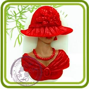 Дама с сережками - 2D Эксклюзивная силиконовая форма для мыла, свечей, шоколада, гипса и пр.