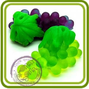 Виноград 1 (с листом) - Эксклюзивная силиконовая форма для мыла, свечей, шоколада, гипса и пр.