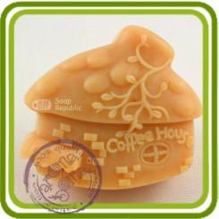 Домик (кофейный) - Объемная силиконовая форма для мыла