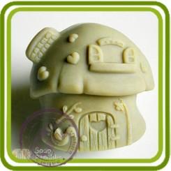 Домик (гриб) - Объемная силиконовая форма для мыла