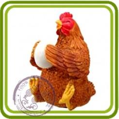 Курочка с яйцом малая - Объемная силиконовая форма для мыла