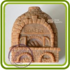 Домик (булочная) - Объемная силиконовая форма для мыла