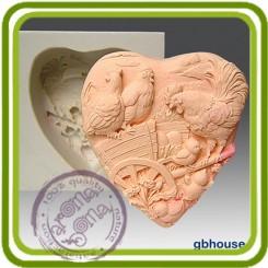 Любимый сельский дворик 2д - Объемная силиконовая форма для мыла