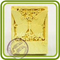 Бабочка на камне 2д - Объемная силиконовая форма для мыла