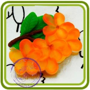 Ветка Франжипани (плюмерии) - 2D Авторская силиконовая форма для мыла, свечей, шоколада, гипса и пр.