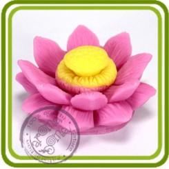 Цветок лотоса 2 (serSF) - 3D силиконовая форма для мыла, свечей, шоколада, гипса и пр.