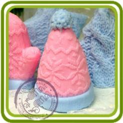 Шапка вязаная 3d - Объемная силиконовая форма для мыла