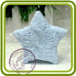 Вязаная звезда 3d - Объемная силиконовая форма для мыла
