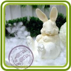 Заяц, кролик лапы вверх 3d - Объемная силиконовая форма для мыла