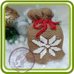 Мешок новогодний с рисунком - Объемная силиконовая форма для мыла