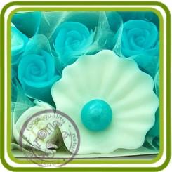 Ракушка с жемчужиной №2, 3d - Объемная силиконовая форма для мыла