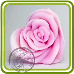 Роза - сердце - Объемная силиконовая форма для мыла