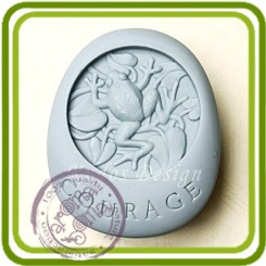 Кураж Лягушка 2d - Объемная силиконовая форма для мыла