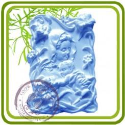 Мамина любовь 4 (прямоуг) - Объемная силиконовая форма для мыла