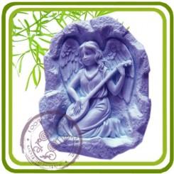 Ангел с домброй - Объемная силиконовая форма для мыла