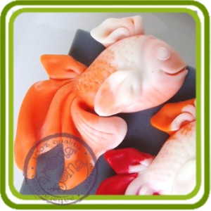 Золотая рыбка - 2D мини молд для декора