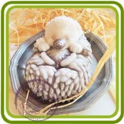 Ёжик - Объемная силиконовая форма для мыла №140