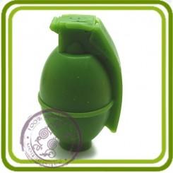 Граната №2 (круглая) - Объемная силиконовая форма для мыла