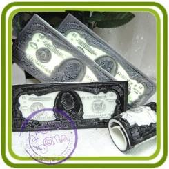 1000 долларов 2D - Авторская силиконовая форма для мыла