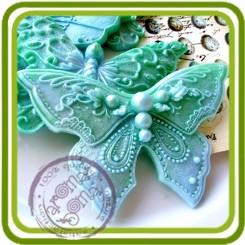 Бабочка ажурная №2 - Объемная силиконовая форма для мыла