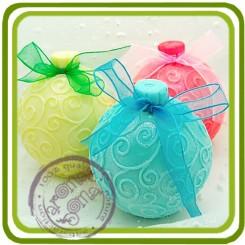 Елочный шар 1 (с вензелями) - Объемная силиконовая форма для мыла