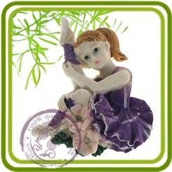 Балерина 1 МИНИ-  Объемная силиконовая форма для мыла №577